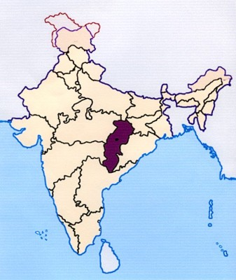 map-chhattisgarh-india